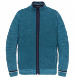 Cast Iron Ckc195443 5233 zip jacket cotton mouline slub lyons blue blauw