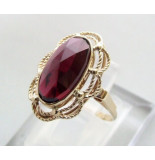 Casio Ocn gouden granaat ring