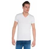Alan Red Dean t-shirt 2-pack met korte mouwen wit