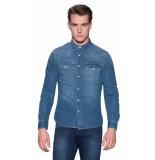 Lee Wester shirt casual overhemd met lange mouwen blauw