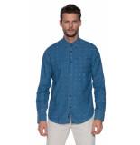 Vanguard Casual overhemd met lange mouwen blauw