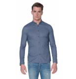 Drykorn Pike casual overhemd met lange mouwen blauw