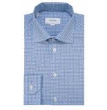 Eton Slim fit overhemd met lange mouwen blauw