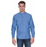Minimum Casual overhemd met lange mouwen blauw