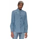 G-Star Casual overhemd met lange mouwen denim