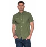 G-Star Casual overhemd met korte mouwen groen