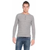 Diesel T-shirt met lange mouwen grijs