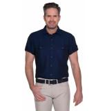 Pierre Cardin Casual overhemd met korte mouwen blauw
