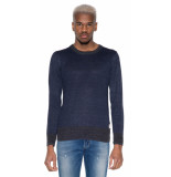 Scotch & Soda Trui o-hals blauw