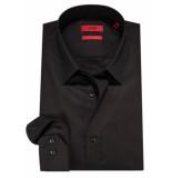 Hugo Slim fit overhemd met lange mouwen zwart