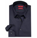 Hugo Slim fit overhemd met lange mouwen blauw