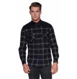 Diesel Casual overhemd met lange mouwen zwart