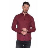 Blue Industry Casual overhemd met lange mouwen rood