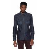 Replay Casual overhemd met lange mouwen blauw
