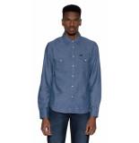 Lee Casual overhemd met lange mouwen blauw