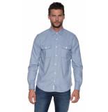 Closed Casual overhemd met lange mouwen blauw