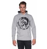 Diesel S-agnes-patch sweater grijs