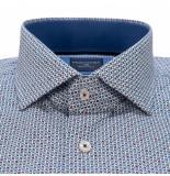 Profuomo Originale slim fit overhemd met lange mouwen blauw