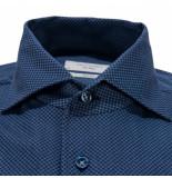 Profuomo Sky blue slim fit overhemd met lange mouwen blauw