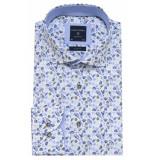 Profuomo Overhemd met lange mouwen blauw