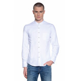 Victim Casual overhemd met lange mouwen wit