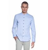 Victim Casual overhemd met lange mouwen licht blauw