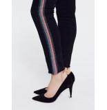 Mother Jeans looker ankle fray glitter zwart
