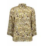 Pieces Pcsussie 3/4 shirt d2d 17101335 bison aop leopard beige