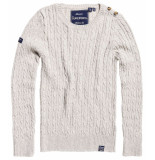 Superdry Croyde cable knit grijs