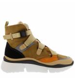 Chloe Sneakers sonnie high beige cognac