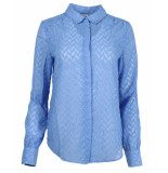 Another Label Blouse d26-519109 maple shirt blauw