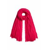 DIDI Sjaal met onafgewerkte look roze