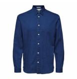 Selected Homme Selected slim nolan shirt ls blauw