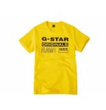 G-Star Shirt korte mouw originals gee geel