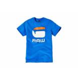G-Star Shirt korte mouw kobalt blauw