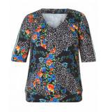 Yesta By Xtwo + T-shirt a32577 zwart
