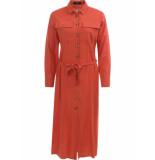 Sisters Point Gazz long shirt dress rood