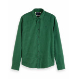 Scotch & Soda Regular fit chic structured shirt groen