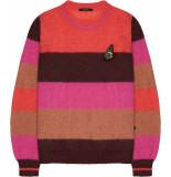 10 Feet Multi colour stripe pullover rood