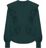 10 Feet Faux cupro jersey top groen