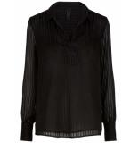Y.A.S Yasfino ls shirt zwart