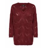 Only Onlhavana l/s v-neck pullover rood