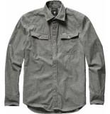 G-Star 3301 slim shirt l\s zwart