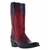 Sendra Dames cowboylaarzen -zwart rood