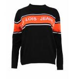 Lois Pullover logo knit 5862 zwart