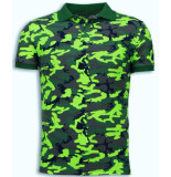 BN8 Black Number BN8 BLACK NUMBER Camo polo shirt neon camouflage polo shirt
