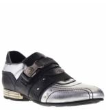 New Rock Heren loafers zilver-zwart grijs