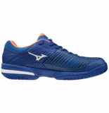 Mizuno Tennisschoen men wave intense tour 5 clay court reflex blue white blauw