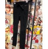 Zip73 603-81-01 broek steekzakje ruit zwart