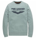 PME Legend Psw195405 5224 r-neck sweat oil blue blauw